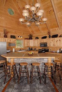 Kitchen at rustic home