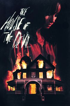 """Sam, so desperate to earn some cash, accepts a babysitting job even after she finds out there is no baby. Mr. and Mrs. Ulman are the older couple who lure Sam out to their mansion deep in the woods. Victor at first seems like just a creepy guy lurking around the house, but quickly makes it clear that Sam will end this night in a bloody fight for her life."" Find THE HOUSE OF THE DEVIL in our catalog: http://highlandpark.bibliocommons.com/item/show/1681172035_the_house_of_the_devil"