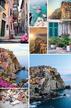 A colorida Cinque Terre em Itália