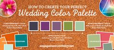 Pin it for later! Wedding Color Schemes Simplified. What you need to know when creating  your personal color palette!