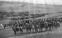 German Imperial Cavalry Division during maneuvers in 1912. Note the elaborate uniforms and the perfect presentation of the horses. By the time WW1 broke out, these fine horsemen could only hope to see action as infantry.