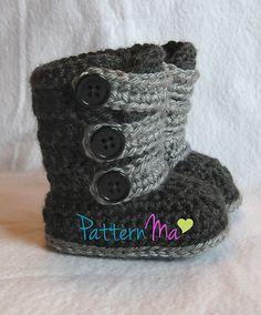 Ravelry: Strappy Baby Boots pattern by Rebecca PatternMa