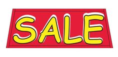 SALE red/yellow Car Dealer Windshield banner sign - Click Image to Close