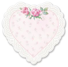 pink heart - shabby chic - printable