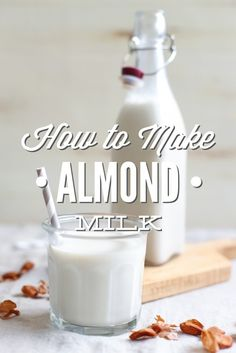 How to Make Almond Milk. This recipe is so easy and tastes amazing-creamy and naturally-sweet, with a hint of vanilla flavor. Only four ingredients + a blender! That's all you need. Once you make almond milk you'll never go back to store-bought.