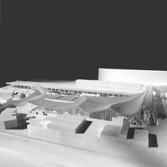Image 9 of 24 from gallery of Kengo Kuma and OODA Win Competition to Redevelop Porto Slaughterhouse. Image Courtesy of Kengo Kuma & Associates + OODA Ancient Architecture, Sustainable Architecture, Modern Architecture, Win Competitions, Kengo Kuma, Remodels And Restorations, Metro Station, Local History, The Neighbourhood