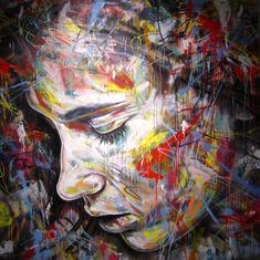 Il mondo di Mary Antony: La Street Art di David Walker (Spray Paint Portraits )