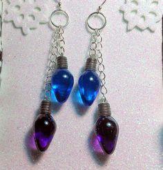 Christmas Earrings Kawaii Christmas Lights by TheSpicyCupcake, $7.00