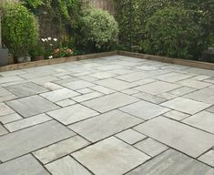 Our Kandla Grey Sandstone is the perfect Indian Stone Paving for any traditional patio. Just Incl. VAT with FREE* Delivery available! See more! Paving Stone Patio, Patio Slabs, Paving Stones, Concrete Paving Slabs, Garden Slabs, Garden Paving, Terrace Garden, Patio Kits, Patio Ideas