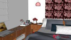 Vista -  projeto quarto de casal