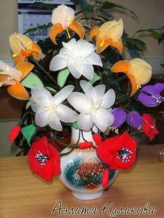 Цветы из капроновых колгот. Обсуждение на LiveInternet - Российский Сервис Онлайн-Дневников