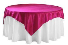 Satin Table Overlay - Burgundy
