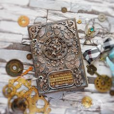 Стимпанк-блокнот, скрап-хомячество и мой творческий уголок (видео) / Steampunk notebook, scrap-shopping and my craft corner
