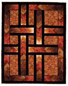 Autumn Paths ( Braid Quilt) Pattern by Ilene Bartos Finished size 74 x 94 Quilting Projects, Quilting Designs, Quilting Ideas, Quilt Design, Quilting 101, Blanket Design, Sewing Projects, Quilt Block Patterns, Quilt Blocks