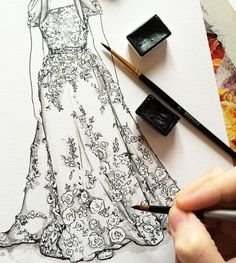 Zuhair Murad fashion illustration