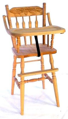 Amish Arrow Back Oak High Chair