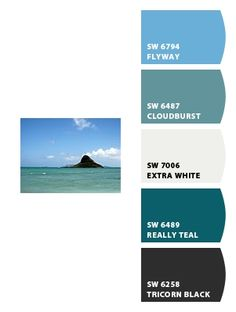 Bathroom colors from picture I took in Hawaii  Paint colors from Chip It! by Sherwin-Williams