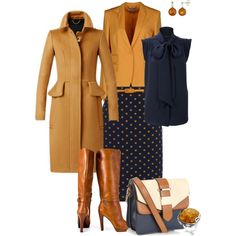 Tan and blue are my alternate monochrome, i particularly like to wear something like this stunning outfit once the autumn kicks in:-)x Fall Outfits, Dress Outfits, Cute Outfits, Fashion Outfits, Womens Fashion, Dresses, Style Work, My Style, Next Clothes