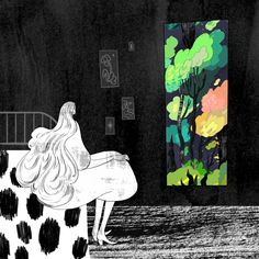 Illustrator Kim Salt creates images that feature elements of splendor. In addition, she's inspired by music and produces engaging animated GIFS. Art And Illustration, But Is It Art, Gifs, Freelance Illustrator, Surreal Art, The Guardian, Love Art, Les Oeuvres, Illustrators
