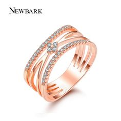 Find More Rings Information about NEWBARK Fashion Clover Rings For Women Paved…