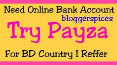 Create Online Bank Account Payza