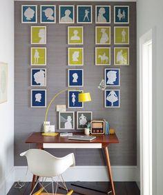 Framed family silhouettes in white - Decoist