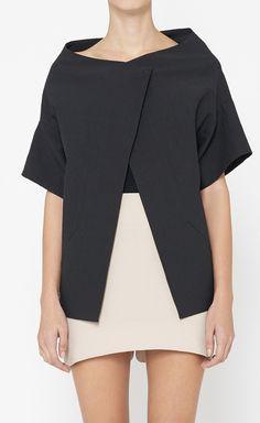Vera Wang Black Jacket, love this, its almost art deco ish White Fashion, I Love Fashion, Fashion Beauty, Fashion Design, Fashion Outfits, Womens Fashion, Vera Wang, Fashion Forward, Style Me