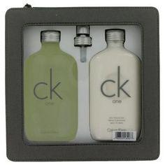 CK ONE by Calvin Klein Gift Set -- 6.7 oz Eau De Toilette Spray + 6.7 oz Body Moisturizer - 423237