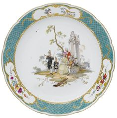 A MEISSEN PORCELAIN DISH, CIRCA 1765 Manufactured in the town of Meissen, Germany