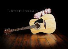Newborn baby guitar