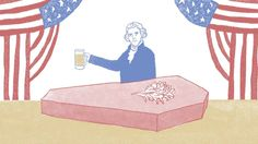 """""""The United States of Beer"""", a short animated film by talented illustrator Drew Christie, is a humorous and amusing trip through American history with the fermented brew at the center o…"""