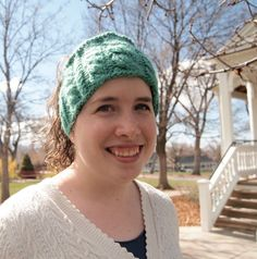 Bright Mint Green Knitted Ear Warmer Headband by KnittingWriter, $25.00
