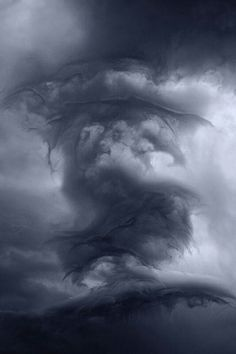 THE CLOUDS by Kilian Schönberger, via Behance This is awesome.the clouds look like a dragon All Nature, Science And Nature, Amazing Nature, Weather Cloud, Wild Weather, Storm Clouds, Sky And Clouds, Tornado Clouds, Mystery Books
