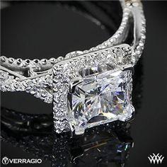 Verragio Princess Halo Diamond Engagement Ring #Whiteflash