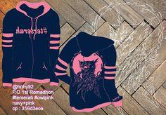 P.O 1st Romadhon #terserah #owlpink #owlterserah navy+pink Sweater or Jacket Terserah