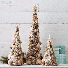 Make Beautiful Cone Seashell Christmas Trees | GREAT INFO ...