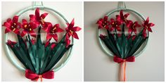 red, lily, handmade, flower, floral, decoration, home, wall, door, event,bridal, baby, wreath