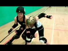 How to Lateral Hip Check/Wrap/Hook in Roller Derby - YouTube