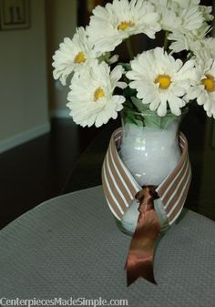 Keep tulle with your centerpiece supplies and use to hide silk flower stems in a vase!