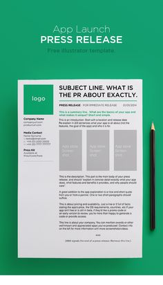 Press Release Template  My First  Press Release  Simply Pr