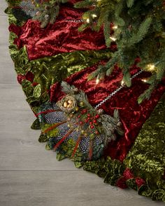 Mackenzie Childs Christmas tree skirt