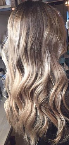 balayage ombre bronde hair color