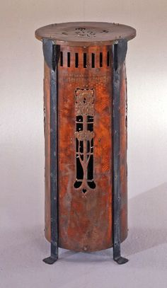 British Arts and Crafts Heater: foliate motif by Unknown maker, circa 1905.