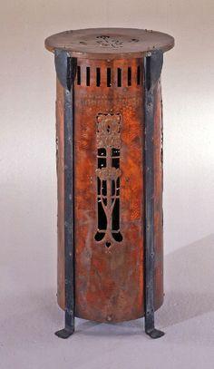 British Arts and Crafts Heater: foliate motif by Unknown maker, circa 1905.