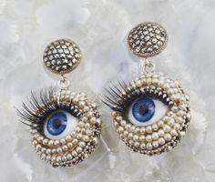 See you Drop Earrings, Charlotte, Silver, Accessories, Vintage, Art, Art Background, Kunst, Drop Earring