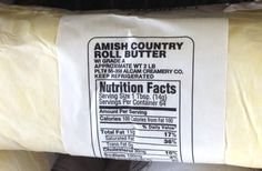amish-butter...... Learn how to read labels