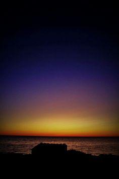 Coucher de soleil sur la côte Ouest de l'Australie