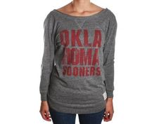 @Sheila Jones Retro Brand RB1745 OU Sooners Streaky Grey S Womens Shirt:Amazon:Clothing