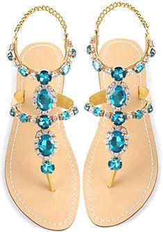 Sparkly Sandals, Pretty Sandals, Rhinestone Sandals, Summer Sandals, Aldo Sandals, Gladiator Sandals, Bridesmaid Sandals, Bohemian Sandals, T Strap Flats