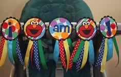 Sesame Street Elmo I am 1 Highchair Banner by TheWonderlandCottage, $20.00